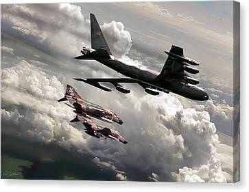 Combat Air Patrol Canvas Print by Peter Chilelli