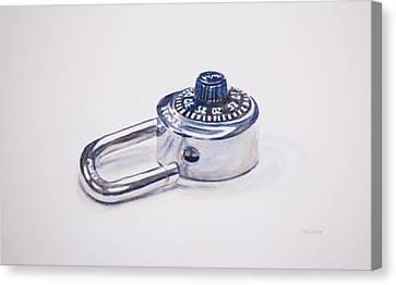 Combination Lock Canvas Print by Christopher Reid