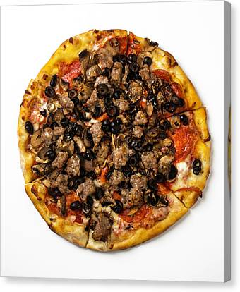 Combination Pizza Canvas Print by Garry Gay