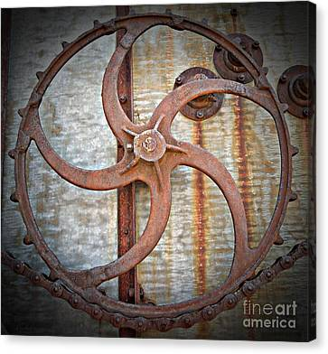 Canvas Print - Combine Gear by Chalet Roome-Rigdon