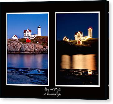 Nubble Lighthouse Canvas Print - Combined Nubble by Greg Fortier