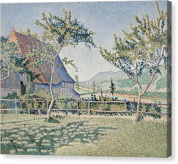 Comblat-le-chateau, The Meadow Canvas Print by Paul Signac
