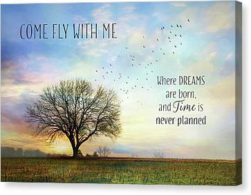 Come Fly With Me Canvas Print by Lori Deiter