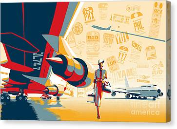 Canvas Print - Come Fly With Me by Sassan Filsoof