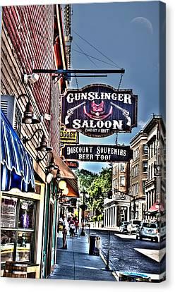 Come Get A Shot At The Gunslinger Saloon Canvas Print