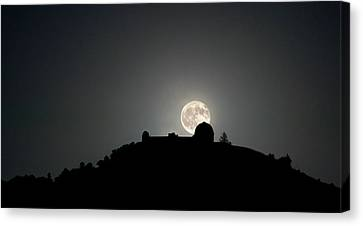 Canvas Print featuring the photograph Come On You Stranger, And Shine In On Lick Observatory by Peter Thoeny