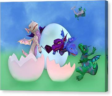 Fantasy Creatures Canvas Print - Come Out And Play by Betsy Knapp