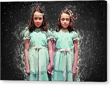 Come Play With Us - The Shining Twins Canvas Print
