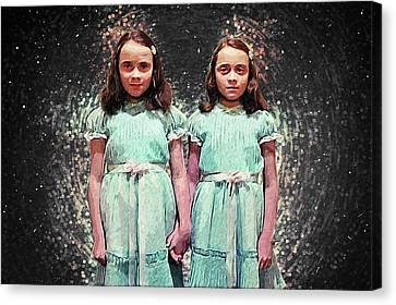 Come Play With Us - The Shining Twins Canvas Print by Taylan Apukovska