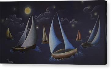 Come Sail Away Canvas Print by Amanda Clark