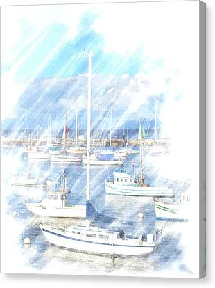 Canvas Print featuring the photograph Come Sail With Me by Barbara MacPhail