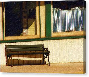 Canvas Print featuring the photograph Come Sit A Spell by Sandy MacGowan