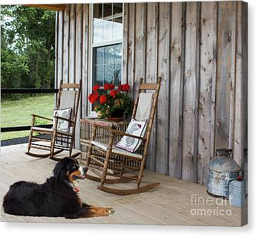 Come Sit A While Canvas Print by Barbara McMahon