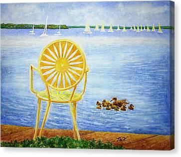 Come, Sit Here Canvas Print by Thomas Kuchenbecker