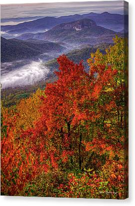 Come With Me Looking Glass Rock Blue Ridge Mountain Parkway Art Canvas Print by Reid Callaway