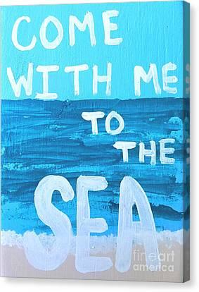 Shoreline Old Men Canvas Print - Come With Me To The Sea by Scott D Van Osdol