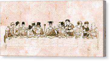 Comedy's Last Supper Canvas Print by Tom Dudzick