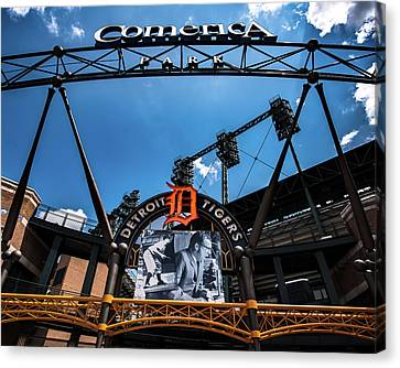 Canvas Print featuring the photograph Comerica Park by Onyonet  Photo Studios