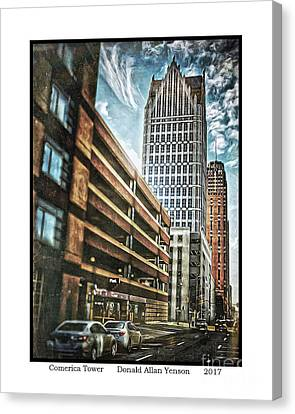 Comerica Tower Canvas Print by Donald Yenson