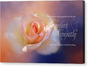 Comfort And Sympathy Canvas Print by Terry Davis