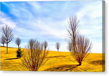 Country Scene Canvas Print - Comfortable Country Scene by Dan Sproul
