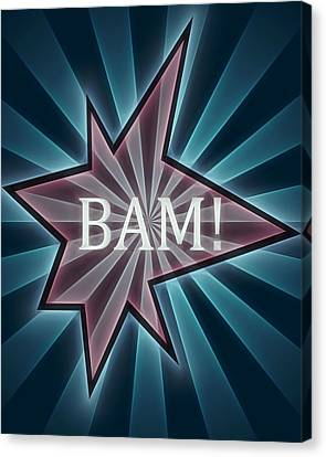 Comic Book Bam Canvas Print by Dan Sproul