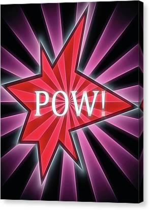 Comic Book Pow Canvas Print by Dan Sproul