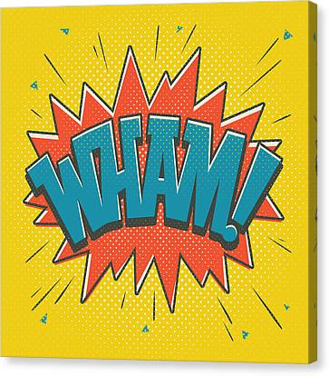 Crashing Canvas Print - Comic Wham by Mitch Frey
