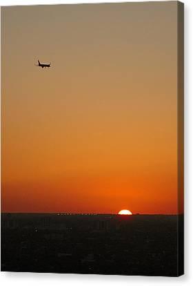 Comin' Home - Miami Canvas Print by Frank Mari