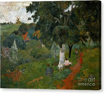 Coming And Going, Martinique, 1887 Canvas Print by Paul Gauguin