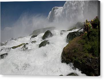 Canvas Print featuring the photograph Coming Close To Niagara Falls by Jeff Folger
