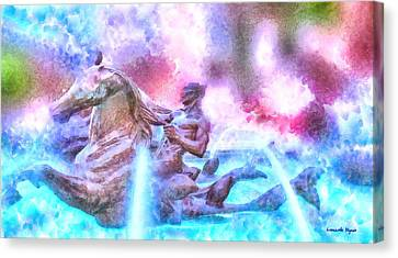 Coming From Deep Waters - Da Canvas Print