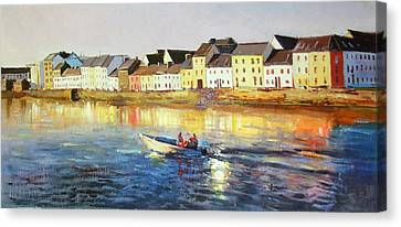 Boats In Water Canvas Print - Coming Home by Conor McGuire