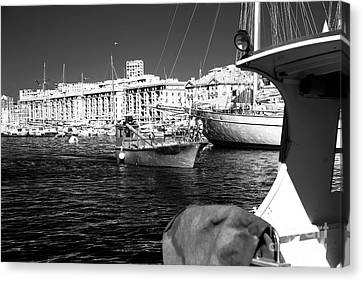 Coming Home In Marseille Canvas Print by John Rizzuto