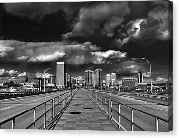 Coming In On Manchester Canvas Print