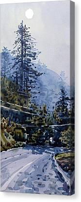 Coming Into La Honda Canvas Print by Donald Maier