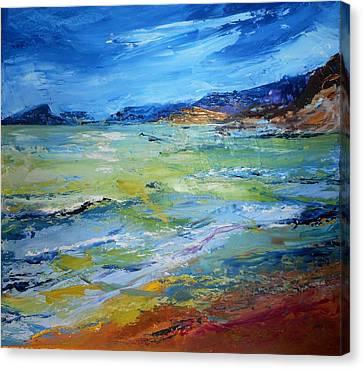 Coming Storm At El Portet Canvas Print