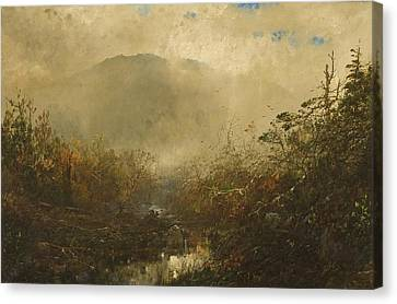 Coming Storm In The Adirondacks Canvas Print by William Sonntag