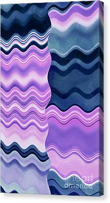 Wavy Canvas Print - Coming Together by Krissy Katsimbras