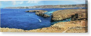 Comino Panorama Canvas Print by Stephan Grixti