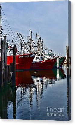 Seafarer Canvas Print - Commercial Fishing Fleet by Paul Ward