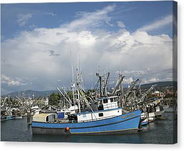 Canvas Print featuring the photograph Commerical Fishing Boats by Elvira Butler