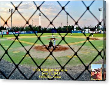 Canvas Print featuring the photograph Commission Free - Midnight Sun Game by Benjamin Yeager