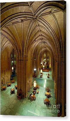 Commons Room Cathedral Of Learning - University Of Pittsburgh Canvas Print