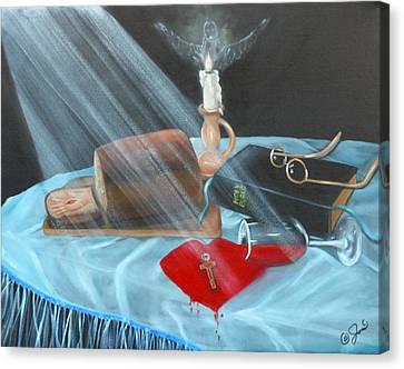 Communion Canvas Print by Joni McPherson