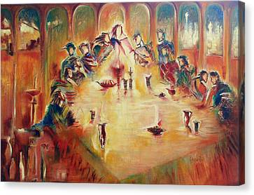 Last Supper Canvas Print - Communion by Rayla Noel