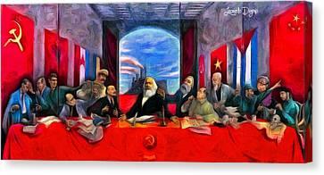 Last Supper Canvas Print - Communist Last Supper by Leonardo Digenio