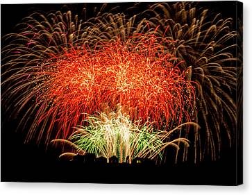 Community Fireworks Canvas Print