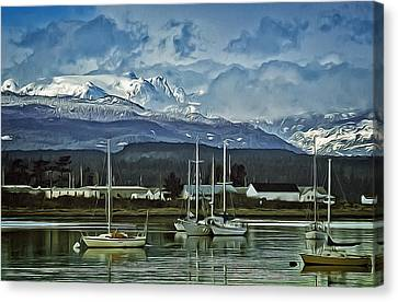 Comox Glacier Overlooking Comox Harbor Canvas Print
