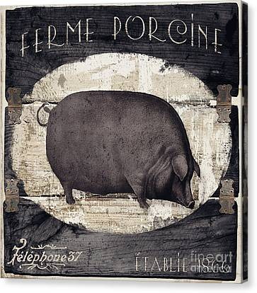 Compagne II Pig Farm Canvas Print by Mindy Sommers